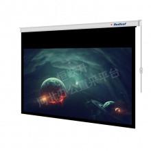 红叶(Redleaf)100英寸16:9电动投影幕布 白塑幕 白幕
