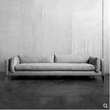 北欧沙发布艺整装客厅三人小户型家具设计师羽绒沙发乳胶可拆洗软